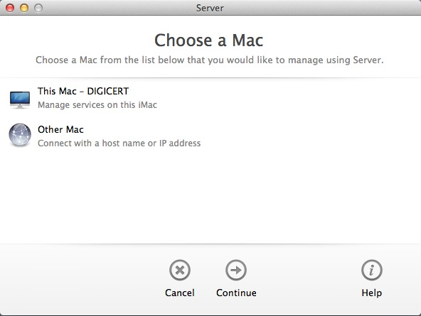 Choose a MAC